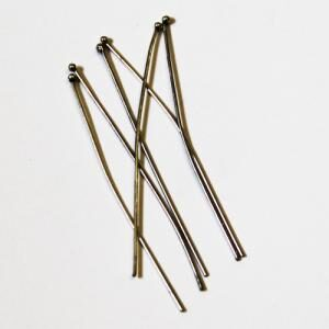 Sterling Silver Ball Headpin