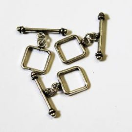 Sterling Silver Square Toggle Clasp