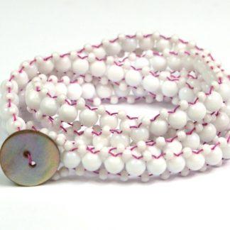 Long Beaded Wrap Bracelet