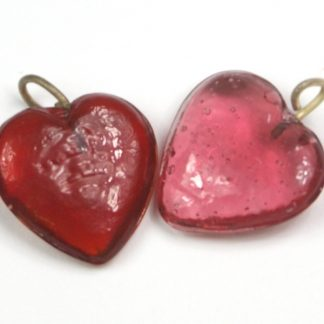 Glass Heart Charm
